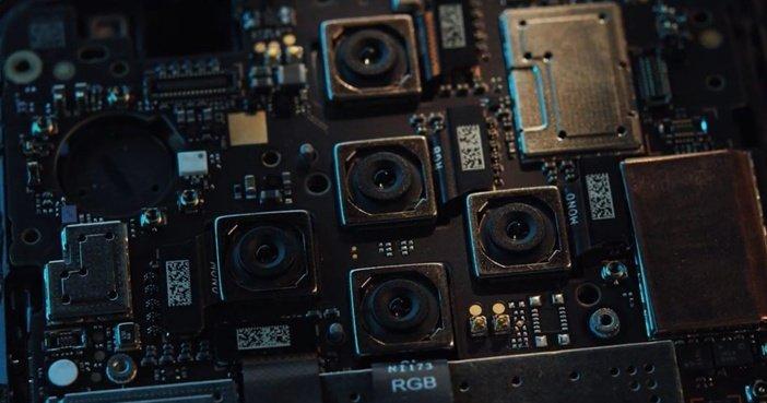 Камеры в разобранном Nokia 9
