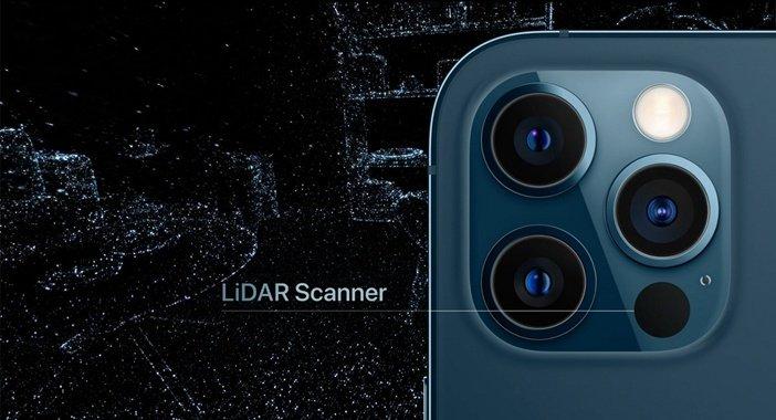 LiDAR в iPhone 12 Pro крупным планом