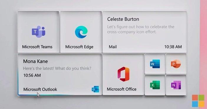 Трёхмерные плитки в будущем интерфейсе Windows 10