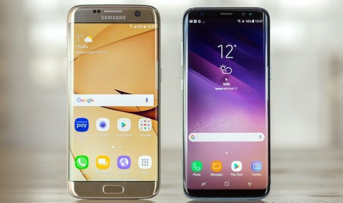 Galaxy S7 и S8 бок о бок
