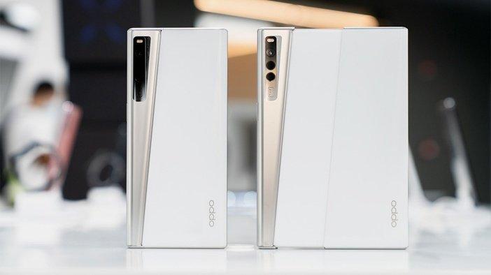Тыльная сторона Oppo X 2021 в обычной и раздвинутой форме