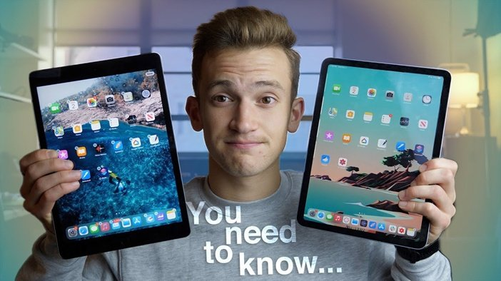 Сравнение толщины рамок iPad 8 и iPad Air 4
